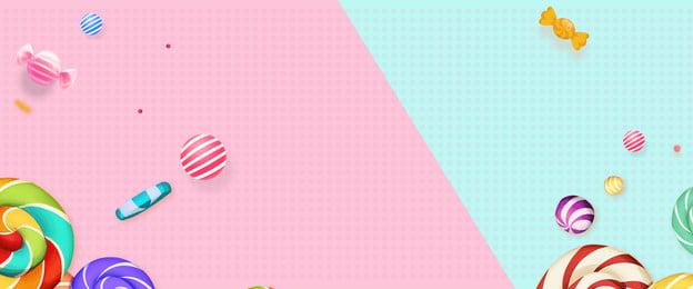 キャンディーの色 キャンディー ピンク 幾何学的な, キャンディーの色, 母方, バナー 背景画像