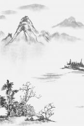 江山の絵のような 中国風のポスター クリエイティブポスター アンティークのポスター , 中国風のポスター, 万里山川, 中国の不動産 背景画像