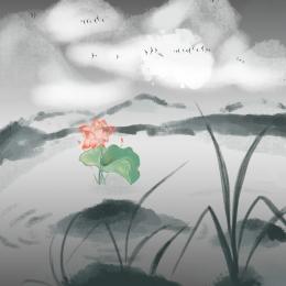 シンプル 水墨画背景 帰国 筆振興 , ホリデープロモーション, 淘宝網メイン画面, 中華風背景宣伝メインマップ 背景画像