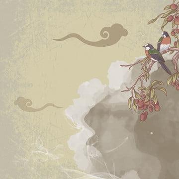 中国風の背景 優雅な背景 白い花 伝統的な模様 , メイン画像, 宝飾品, 宗教的背景 背景画像