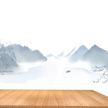 中国風の背景 エレガントな背景 木板 インクの背景 , エレガントな背景, インクの背景, 木板 背景画像