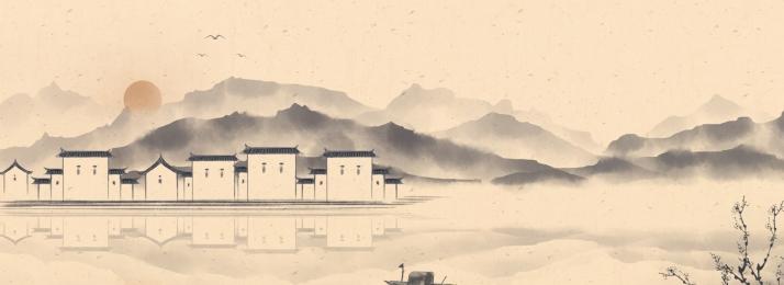 中國風 古典 文藝 復古, 中國畫, 設計, 古典 背景圖片