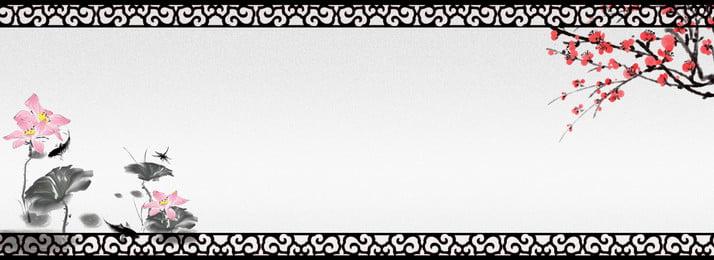 中国風 レトロ インク アンティーク インク 中国風レトロインク古代中国絵画淘宝網バナー 中国絵画 背景画像