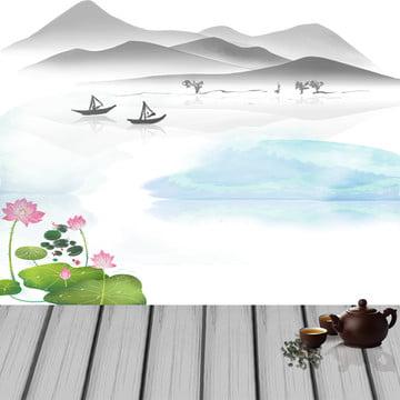 中国風の背景 中国風 木の板 緑の葉 , 漢方薬, 中国風, 木の板 背景画像