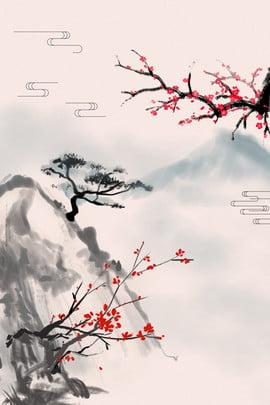 दीवार पेंटिंग वॉलपेपर चीनी इनडोर , दीवार, दीवार पेंटिंग, चीनी शैली पृष्ठभूमि छवि