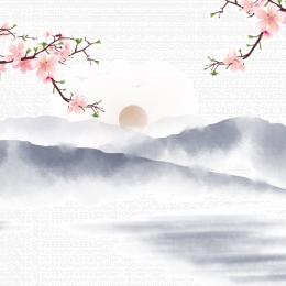 चीनी शैली पृष्ठभूमि परिदृश्य पृष्ठभूमि गुलाबी फूल गुलाबी चेरी फूल , मुख्य, मुख्य मानचित्र, Psd पृष्ठभूमि छवि