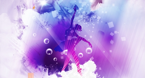 colorful and beautiful dancing youth positive energy poster background material, Dancing Youth, Colorful And Beautiful, Youth Background Stage Background image