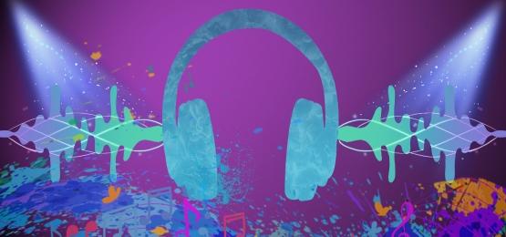 song king heroes headsets kreatif malam sastera, Festival Muzik, Poster, Suara imej latar belakang