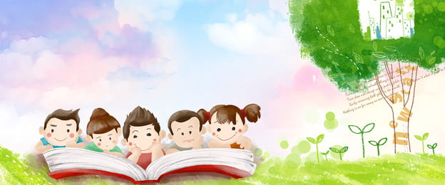 子供たちは自立し 読書と読書 読書図書館 読書コンテスト, 幸せであるべきです, 子供たちは自立し, 読書学校 背景画像