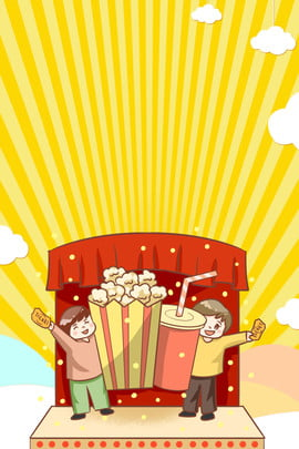 popcorn set popcorn popcorn cola , Food, Popcorn, Entertainment Imagem de fundo