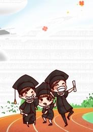 可愛 卡通 畢業 畢業季 , 畢業季, 畢業, 卡通 背景圖片