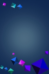 dark blue background investment background flat geometric , Geometry, Commercial H5 Background Material, Creative ภาพพื้นหลัง