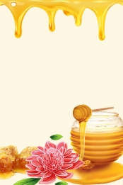 delicious honey gourmet promotion poster background template , Delicious, Honey, Gourmet Background image