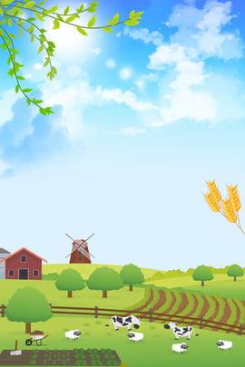 हरी पत्तियां जैविक फल और सब्जी लेने खेत चिकन , पोस्टर, हरी पत्तियां, मशरूम पृष्ठभूमि छवि