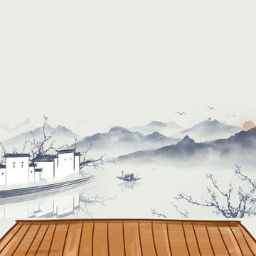エレガントな背景 中国風の背景 緑の葉 茶葉 , 淘宝網, 緑の葉, エレガントな背景 背景画像