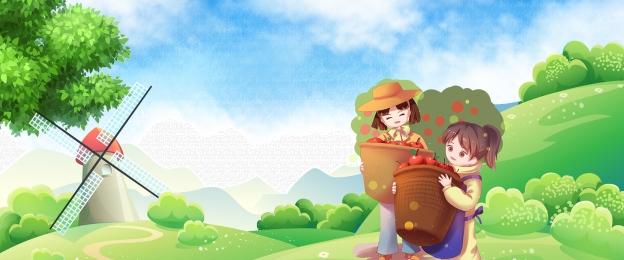 किसान बाग का रस विज्ञापन psd किसान बाग स्वस्थ पुनर्मिलन कार्टून, मूली, ताजा हरा पत्तियां, जूस पृष्ठभूमि छवि