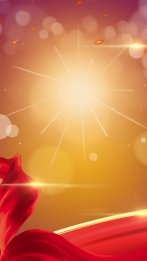 fashion dazzling high end atmosphere golden light h5 background material , Creative, Red, Red Silk Background image