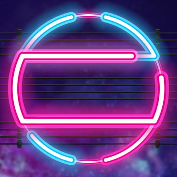 flashing circle neon glow , Master, Digital Technology, Future Imagem de fundo