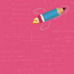 flat student supplies math , Math, Pink, Student Imagem de fundo