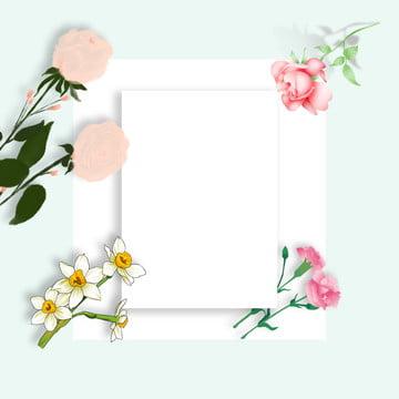 fresh background flower simple border border , Perfume, Print, Border Фоновый рисунок
