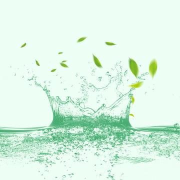 ताजा पृष्ठभूमि हरी पत्ती की पृष्ठभूमि छींटे पानी पानी की बूंदें , त्वचा देखभाल उत्पाद, ट्रेन से, प्रसाधन पृष्ठभूमि छवि