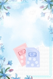 ताजा मुखौटा पोस्टर प्रचार , सामग्री, मॉइस्चराइजिंग, पंखुड़ी पृष्ठभूमि छवि