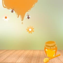 清新自然 木板 綠色主圖 自然主圖 , 蜂王漿, 蜂巢, 木板 背景圖片