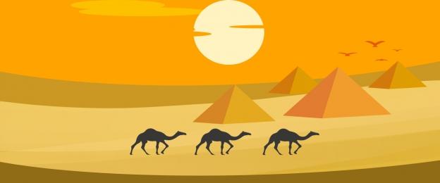 fresh sand dune desert flat banner, Fresh, Dunes, Flat Desert Background image
