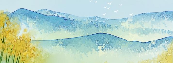 ताजा जल रंग की हवा परिदृश्य पारिस्थितिक सभ्यता, पारिस्थितिक सभ्यता, परिदृश्य, नीला आकाश पृष्ठभूमि छवि