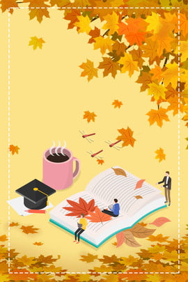 golden autumn action poster background material , Golden Autumn Action, Trade-in, Shock Zone Background image