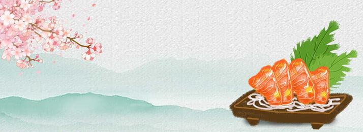卡通 手繪 食品 壽司, 日本, 櫻花, 美食日式風味壽司 背景圖片