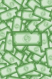 green flat geometric money background material , Green, Flat, Geometric Background image