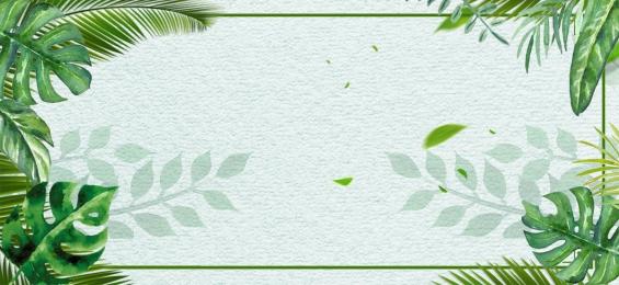 ग्रीन ताजा भोजन भोजन, बैनर, भोजन, पत्ते पृष्ठभूमि छवि