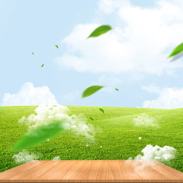 green fresh natural sports shoes psd layered master map background material , Green Background, Grass Background, Blue Sky Grass Background image