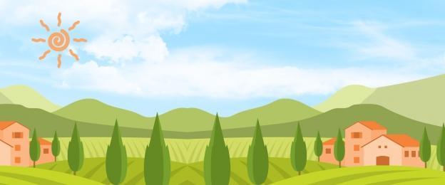 देशी मुर्गी फार्म पोस्टर हरा भोजन जैविक खाद्य पशुपालन, पोस्टर पृष्ठभूमि, ग्रामीण पर्यटन, सामग्री पृष्ठभूमि छवि