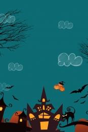 halloween ghost witch bat , Moon, Spider, Tree Фоновый рисунок