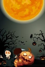 halloween carnival night halloween promotion halloween flyer halloween material , Halloween Promotion, Moon, Halloween Фоновый рисунок
