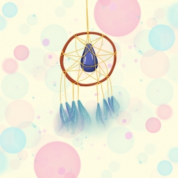 pngtree hand drawn minimalistic art dream catcher background image 145898