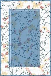 Hand painted background flower simple border border Minimalistic Interest Class Imagem Do Plano De Fundo