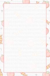 你好八月 粉色 可愛 草莓 夏日 小清新 八月背景圖庫