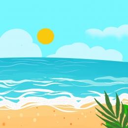 簡約 小清新 夏季促銷 summer , 簡約, 冰爽一夏, 夏季促銷 背景圖片