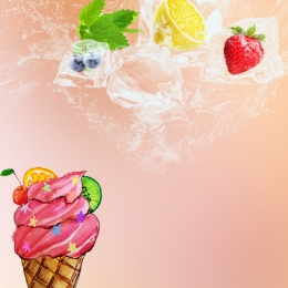 ice cream background fruit background fresh fruit pink background , Psd, Pink, Juice Drink Imagem de fundo