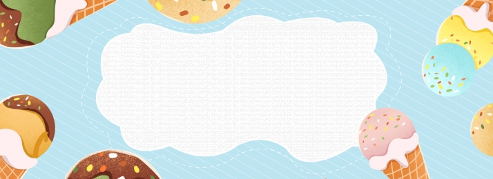 Ice Cream Simple Blue Poster Background Banner, Ice Cream, Ice Cream, Cone, Background image