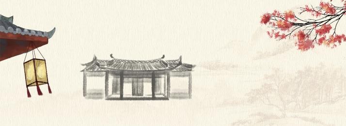 स्याही चीनी शैली मध्य शरद ऋतु समारोह चाय घर, मध्य, ऋतु, पृष्ठभूमि पृष्ठभूमि छवि