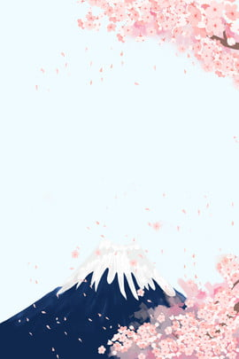 japan mount fuji cherry blossom background , Child, Hand Drawn, Mountain Imagem de fundo