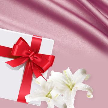 ジュエリー ピンク サテン メイン画像 , ジュエリーピンクサテンメイン画像, リボン, ボックス 背景画像