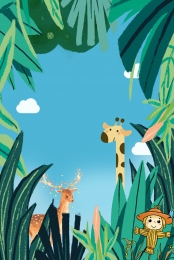 jungle adventure poster background , Jungle Adventure, Forest Adventure, Animal World Background image