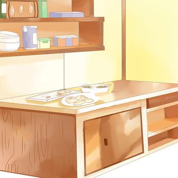 주방 배경 인생의 현장 온수 병 전기 주전자 , 냄비, 전기 제품, 자료 배경 이미지
