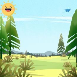 Fresh background summer landscape illustration Forest Illustration Landscape Imagem Do Plano De Fundo