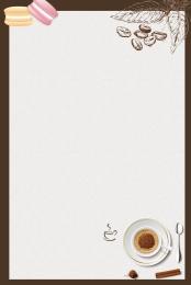 文藝 手繪 甜品 下午茶 , 糕點, 下午茶, 甜點 背景圖片